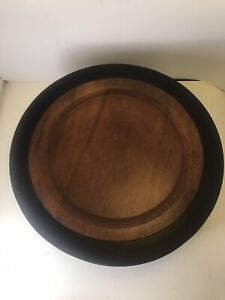 """Set of 8 Pottery Barn Wood Rustic Dinner Charger Plates 14"""" Natural Shape"""