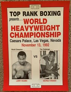 LARRY HOLMES-GEORGE FOREMAN ORIGINAL ON SITE POSTER (1992)