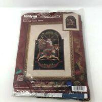 Janlynn Rocking Horse Santa Counted Cross Stitch Kit Christmas  #125-203