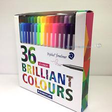 Staedtler Color Pen Set Set of 36 Assorted Colors Triplus Fineliner Pens