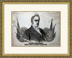 James Buchanan 1856 Campaign Poster Custom Gallery Framed Reproduction