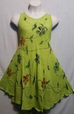 Women Clothing Sundress Summer Beach Sun Dress Lime Green Blue Free Size