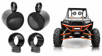 "(2) Rockville MAC80B 7.7"" 360 Degree Swivel Tower Speaker Pods For RZR/ATV/UTV"