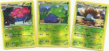 VILEPLUME+GLOOM+ODDISH -3 EVOLUTION BOUNDARIES CROSSED Pokemon Card-R-HOLO MINT