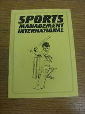 Circa anni 1990 Cricket: Sports Management internazionale, un manuale equivalente contenente info