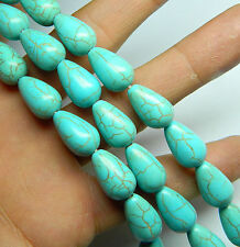 7x11mm Blue Turkey Turquoise Teardrop Gemstone Loose Beads 15''
