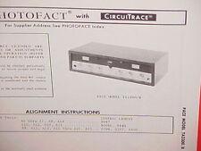 1971 PACE CB RADIO SERVICE SHOP MANUAL BASE STATION MODEL TA2300/B