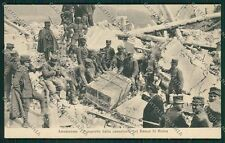 L'Aquila Avezzano Terremoto Banca Militari cartolina QQ3919
