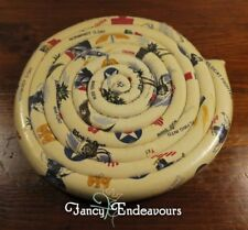 WWII Military Imagery Warplanes Red Cross Scented Fabric Coil Hot Pad Trivet 5D