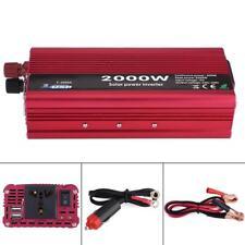 Solare Power Inverter Auto Camper Accendisigari 2000W 12V DC a 220V 2 USB Presa