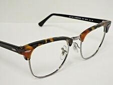 Authentic Ray-Ban RB 3016 1157 Tortoise Fleck Clubmaster Sunglasses Frame $215