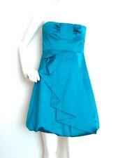 Designer KAREN MILLEN turquoise cocktail dress size 10 --BRAND NEW--cotton blend