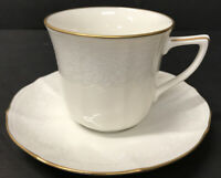 Noritake China  cup and saucer cream Gold Trim Ivory China tea coffee