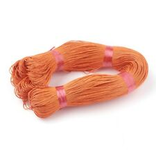 1mm Chinese Cotton Wax Cord OrangeRed Imitation Leather Waxed Braided Strings