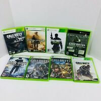 Call Of Duty World At War MW2 MW3 Ghost Warfare COD 2 3 Xbox 360 Games Lot Of 8