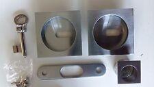 Kit maniglie incasso per porta scorrevole scrigno con chiave quadrata moderna cr