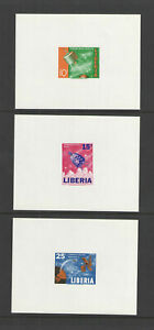 1964 LIBERIA Sc # 415-417 SPACE DELUXE SOUVENIR SHEET MINT NEVER HINGED