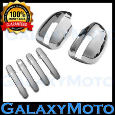 06-12 Toyota RAV4 Chrome Mirror w/turn Signal +4 Door Handle+No PSG Keyhol Cover