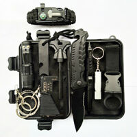 Outdoor Emergency Survival Gear Kit Camping Tactical Tools 10 In 1 SOS Case