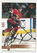 00/01 Upper Deck Autographed Hockey Card Radek Bonk Ottawa Senators