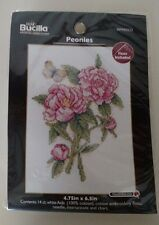 Bucilla Counted Mini Cross Stitch Flowers Peonies Sampler New In Package