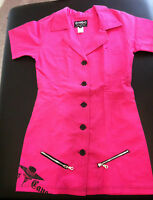 CAPES AND CANES Old School PINK Work Dress Punk Goth Glam NEW Women's Size 9