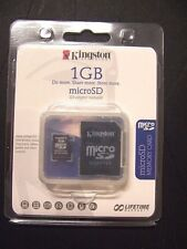 Kingston 1GB microSD MEMORY CARD with Adapter