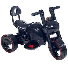 Lil Rider Sleek LED Space Traveler Battery Operated Motorcycle Trike Black