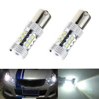 80W 1156 BA15S 16LED White Car Tail Turn Backup Reverse Light Bulb Lamp 12V