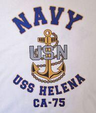 USS HELENA CA-75* CRUISER U.S NAVY W/ ANCHOR* SHIRT