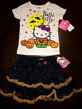 ADORABLE Hello Kitty 2pc Halloween Outfit Set. 3T Glitter Tutu. NEW $46
