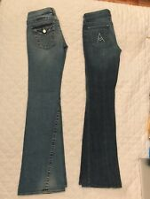 """True Religion AND Seven for All Mankind Denim Pants Size 28 L 34"""" Set of 2"""