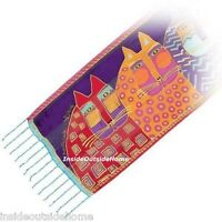 Laurel Burch Neck SCARF  Wild Cats Bright Colors Beaded New
