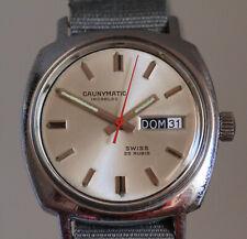 Reloj automático suizo CAUNY CAUNYMATIC FUNCIONANDO