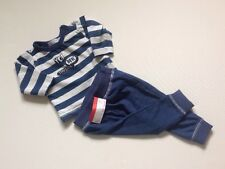 Dirkje Baby Boys Blue & White Striped T-shirt & Jogging Bottoms Outfit 3 Months
