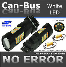 x2 42LED 3157 Dual Color Switchback White+Yellow Turn Singal Bulbs+Res ZY386