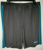 Adidas Mens 2XL Gray Clima Cool 10 in Inseam D2M Cool Shorts NWT