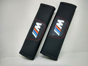 Pair Car Seat Belt Pads Shoulder Strap Cushion Covers For BMW New