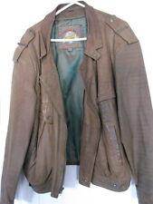 Brown Soft Leather Coat, Waist Length, Size XL, Adventure Bound Originals