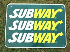 Authentic Retired Michigan Highway Road Sign - Subway Restaurant, Man Cave