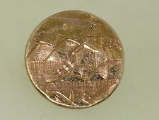 Antique V 00004000 Ictorian Dtd. 1882 Hand Etched Scene Rose Gold Top Collar Button1