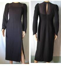 Vintage 1980s EN FRANCAIS par Huey WALTZER, robe Cocktail Evening Dress Noir T38