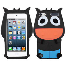 APPLE iPod Touch 5th Generation Pastel Skin Cover - Cartoon COW Design (Black)
