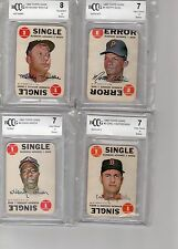 1968 TOPPS GAME COMPLETE SET ALL GRADED BCCG 7 AND HIGHER