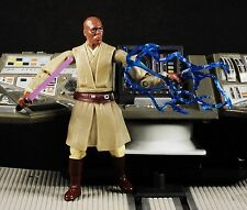 "Hasbro Star Wars 3.75"" Action Figure 1:18 Jedi Master Mace Windu Lightning K621"