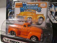 Muscle Machine '53 CHEVY  pickup ORANGE  funline custom  1:64 scale maisto