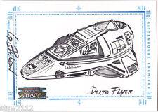THE COMPLETE STAR TREK VOYAGER SKETCH AFEX DELTA FLYER CRIS BOLSON