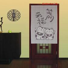 Good Fortune Cat Japanese Noren Lucky Animal Pattern Door Curtain D8264