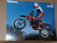 1982 Honda CR80 R Motorcycle Sales Brochure - Literature