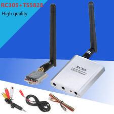 FPV RC 5.8G 600mw 40CH Wireless AV Mini Transmitter TX TS5828 + Receiver RC305